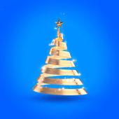Abstract ribon christmas tree — Stock Photo