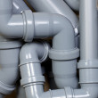 Sewer pipes chaos — Stock Photo