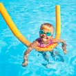 Child in a swimming pool — Stock Photo #13572923