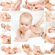 Baby massage collection — Stock Photo #13578764