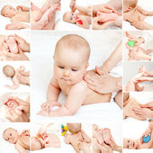 Baby massage collection — Stock Photo