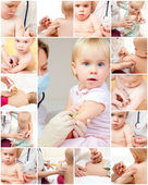 Little girl gets an injection — Stock Photo