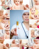 Little baby get an injection — Stock Photo