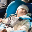Toddler in a car seat — Stock Photo