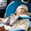 Toddler in car seat — Stock Photo #13671367