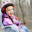 Постер, плакат: Child in bike seat