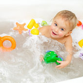 Bathing Baby — Stock Photo