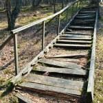 Broken stairs — Stock Photo
