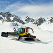 Moving snowcat — Stock Photo