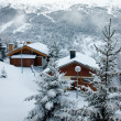 Stock Photo: Ski resort after snow storm