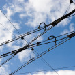 Tramway rower cables - Foto Stock