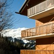 Stock Photo: Alpine ski resort chalet