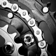 Bike chainset — Stock Photo