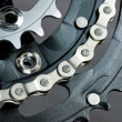 MTB crankset with  chain — Stock Photo