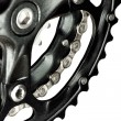 Stock Photo: MTB crankset with chain