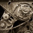 Old gear transmission - Stock Photo
