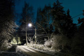 Winter night — Stock fotografie