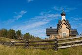 木制俄罗斯教堂 — 图库照片
