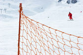Ski slope fence — Stock Photo