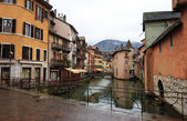 Canal at Annecy town — Foto de Stock