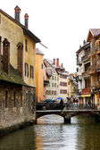 Rainy day at Annecy town — Stock Photo