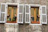 Shuttered windows — Foto Stock