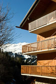 Alpine ski resort chalet — Stock Photo