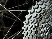 задние колеса деталь — Стоковое фото