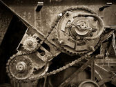 Old gear transmission — Stock Photo