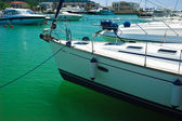 Moored Yachts — Stock Photo
