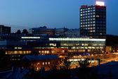 Night city scene — Stock Photo