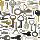 Old keys pattern — Stock Photo