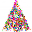 Christmas tree from confetti — Stock Photo