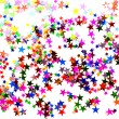 Stock Photo: Star shaped confetti