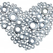 Metal heart — Stock Photo