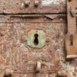 Old rusty keyhole — Foto de Stock