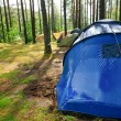 Campsite after rain — Stock Photo