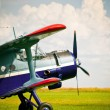 Stock Photo: retro sport airplane