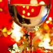 Wineglass with decoration — Stock Photo