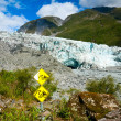 Glacier hazards — Stock Photo