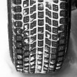 Winter tyre on a vehicle - Foto de Stock