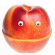 Smilng nectarine — Stock Photo