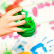 Stock Photo: Fingerpaint