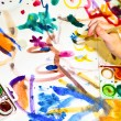 Childs painting — Stock Photo