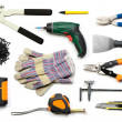 Stock Photo: Drywall tools isolated