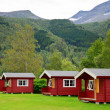 Camping cabins — Stock Photo