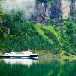 Stock Photo: Ferryboat in fiord