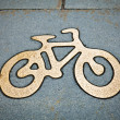 Bicycle lane — Stock Photo