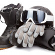 Snowboard equipment - Stock Photo
