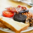 Full Scottish breakfast - Stock Photo
